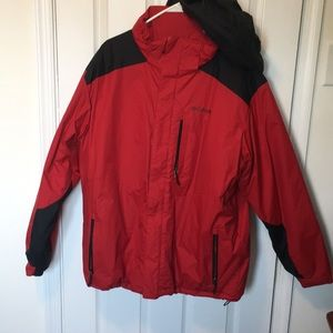 Men's XL Columbia winter jacket red/black